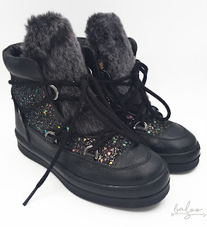 unisa bota nieve glitter negra baloo