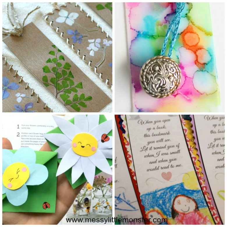 Homemade gifts for mom from kids - easy diy bookmark gifts that kids can make.