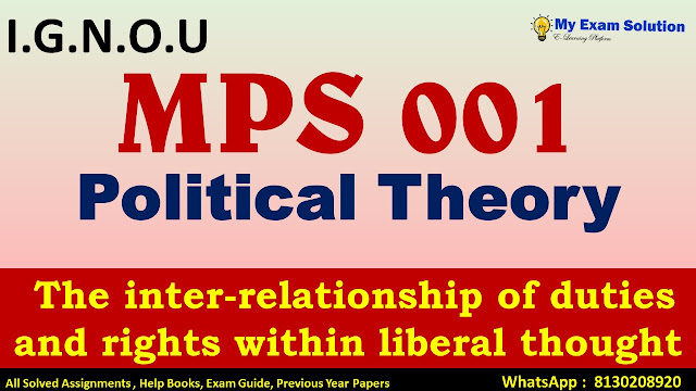 The inter-relationship of duties and rights within liberal thought