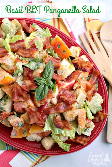 This hearty Basil BLT Panzanella Salad combines all the goodness of the classic sandwich with the fresh flavors of summertime.