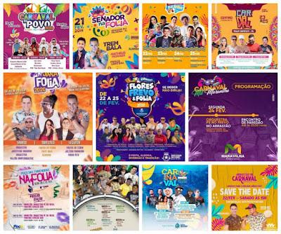 Confira a programação do carnaval 2020 em 11 cidades do sertão de Alagoas