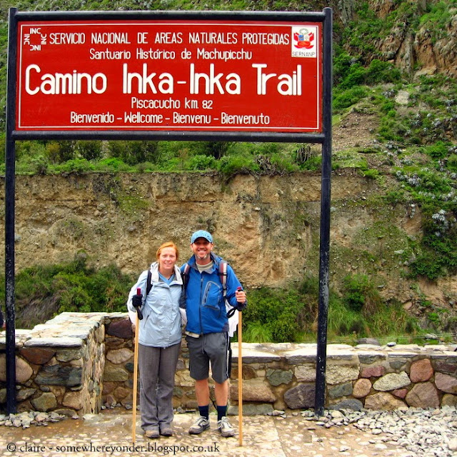 Day 1 - at the start of the Inca Trail on our way to Machu Picchu, Peru 2009