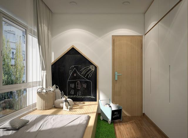 Không gian phòng ngủ tràn ngập ánh sáng