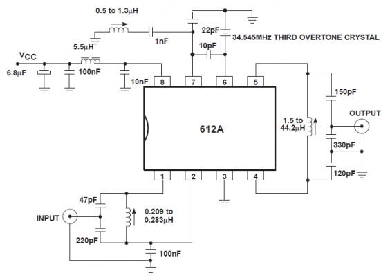 Philips SA612A Gilbert Cell Oscillator for RF Applications