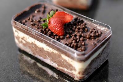 Cara Membuat Dessert Box Coklat Lumer