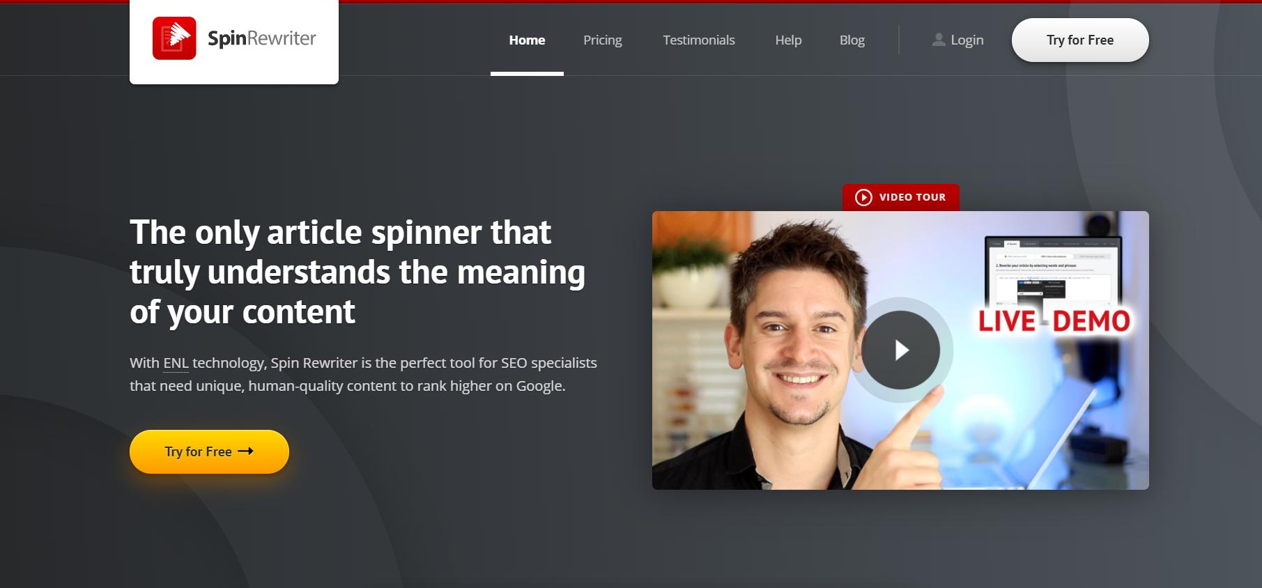 Spin Rewriter- Best Paraphrasing tools
