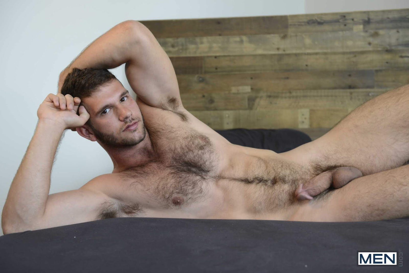 Hot nude gay man with hairy body