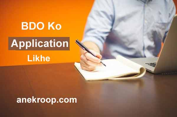 bdo ko application letter likhe