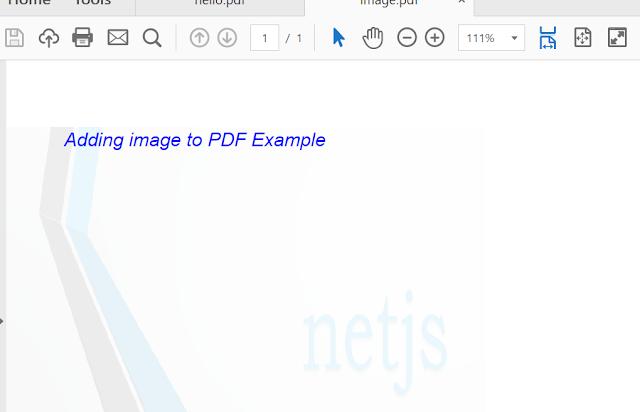 Adding image to PDF using openPDF