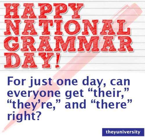 National Grammar Day Wishes Photos