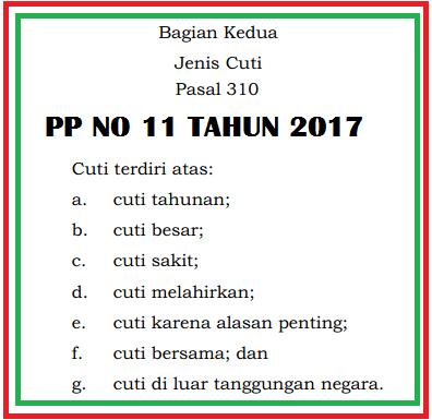 INILAH PERATURAN TERBARU TENTANG CUTI PEGAWAI NEGERI SIPIL (PNS) TAHUN 2017