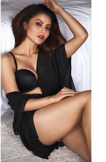 Urvashi Rautela in Black Lingerie for cover page of GR8 Magazie July 2016