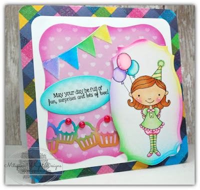 Little Birthday Girl Card w/ Latina Crafter Stencils & Stamps         -          Craftwell Blog