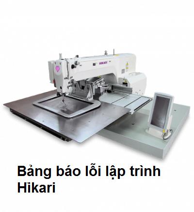 Báo lỗi lập trình Hikari HMS 1010/1310/1510/2210/3020/6030