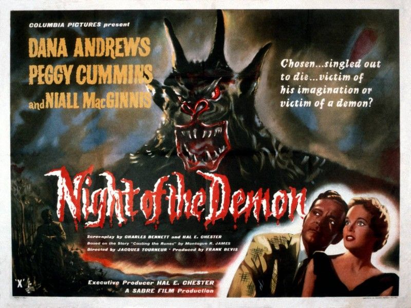night of the demon 1957 poster
