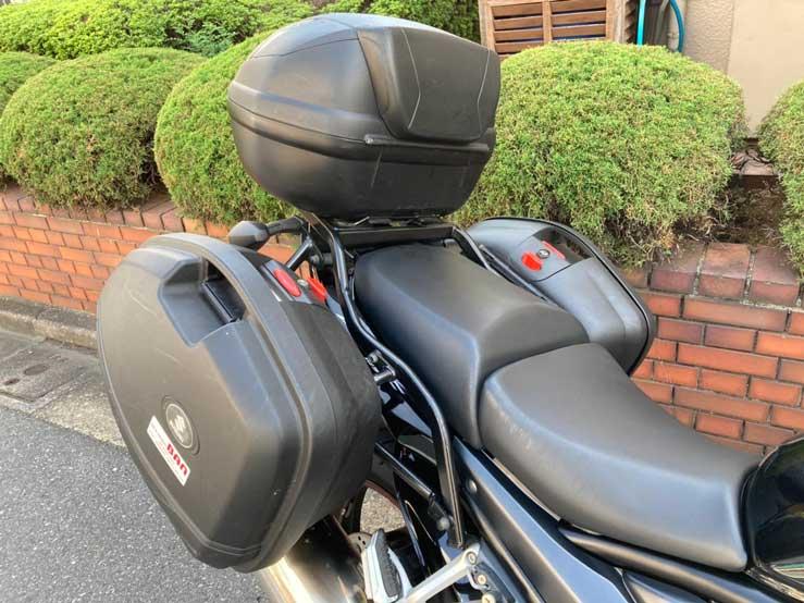 サイド&リアボックス付きレンタルバイク