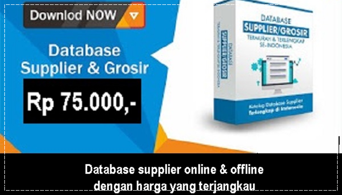 Database Supplier Offline dan Online Terlengkap