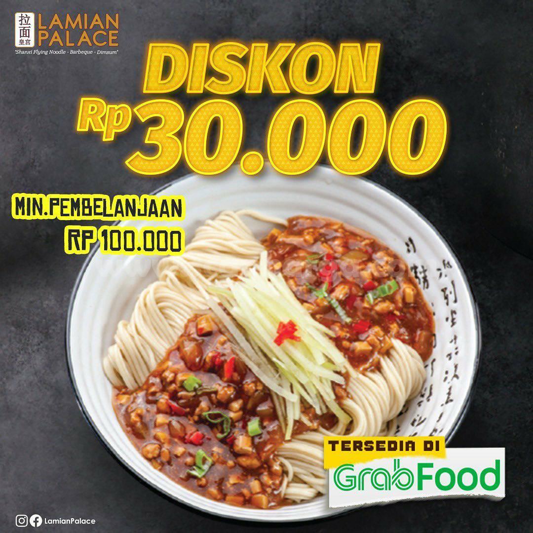 LAMIAN PALACE Promo Diskon Rp. 30.000 Via Grabfood