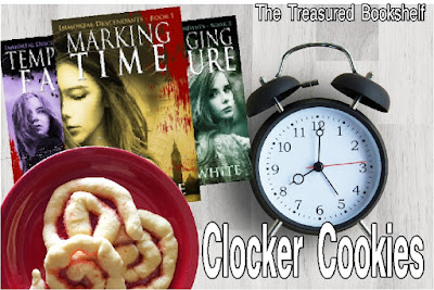 Time Travel Books are the best, and I just loved The Immortal Descendants Series. While we wait for the next book in the series, I'm enjoying some Clocker Cookies with a sugar cookie base and a sweet candy center.