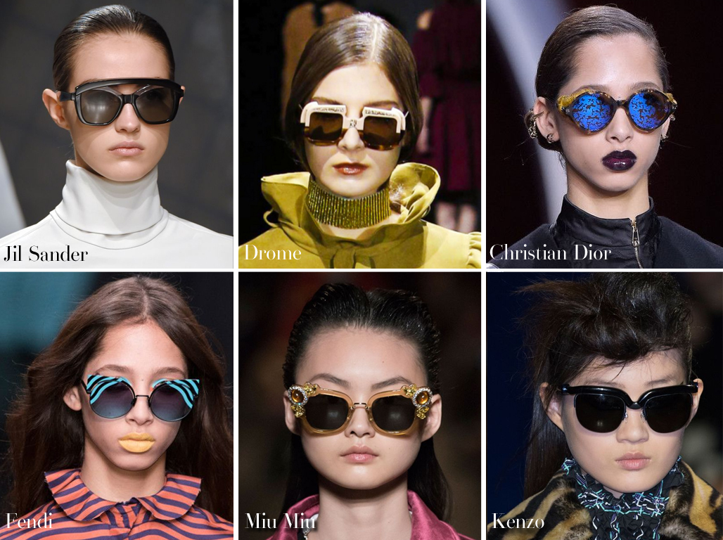 Inspected Trend: All Shade! Sunglasses during the Fall 2016 Shows