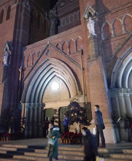 キリスト教会の玄関