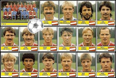 PSV Voetbal panini 88 holland