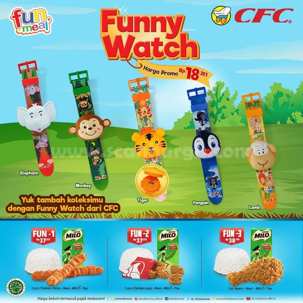 CFC Fun Meal edisi Funny Watch Koleksi Terbaru harga promo mulai Rp 18.181*