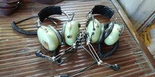 Jual headset pilot bekas ..Barang langka ndan