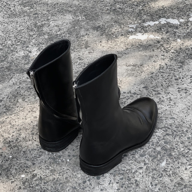 GIÀY WALKER 822B - WALKER SPIRAL ZIP BOOTS 822 in BLACK