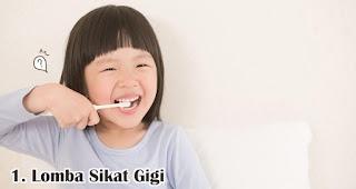Lomba Sikat Gigi merupakan salah satu ide lomba 17an seru dan edukatif untuk anak