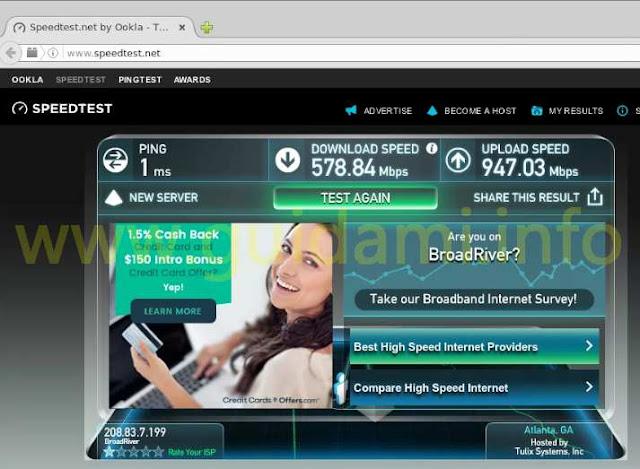 Velocità internet sito Rabbit