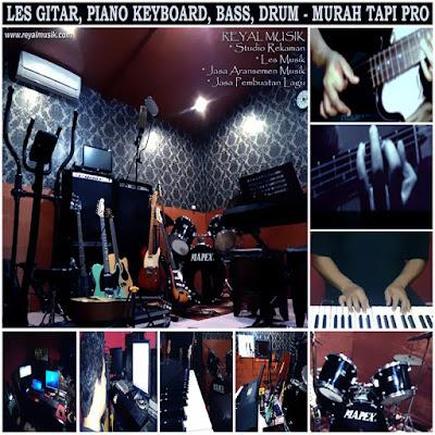 tempat belajar, kursus, les gitar, piano keyboard, bass, drum jakarta, biaya murah