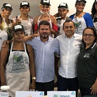 BOM JARDIM-MA: PRESIDENTE DA CÂMARA PARTICIPA DO ENCERRAMENTO DO CURSO DE ALIMENTOS.