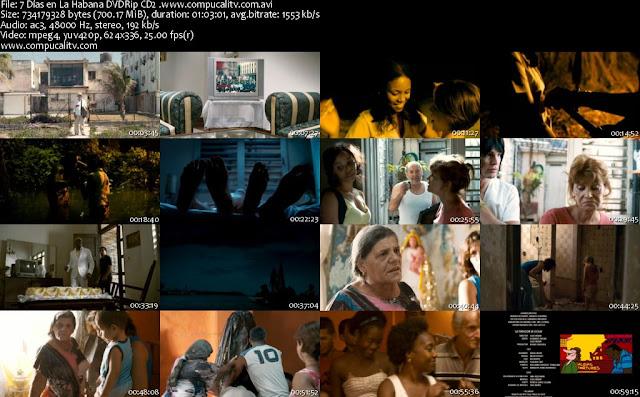 7 Días en La Habana DVDRip Español Latino Película 2012