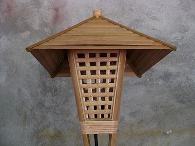 Hasil gambar untuk lampu hias bambu