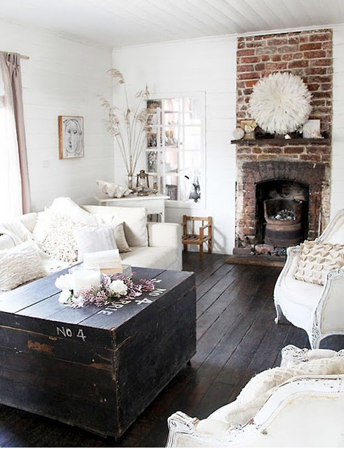 My Heritage Home: Shabby White Light Living Rooms