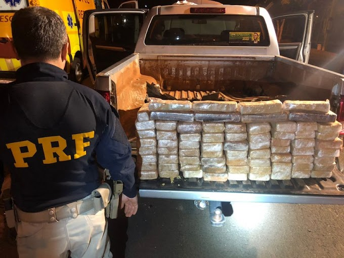 PRF apreende em Ponta Grossa, pasta base de cocaína que renderia R$ 9 milhões ao tráfico