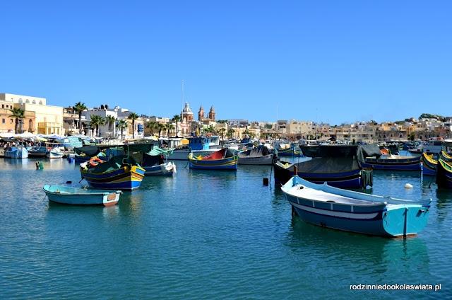 Malta z dzieckiem- Marsaxlokk i niedzielny targ