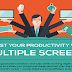 Boost Your Productivity With Multiple Screens #infographic