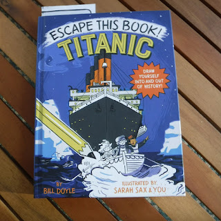 front cover of Escape This Book: Titanic written by Bill Doyle and illustrated by Sarah Sax, a March 2019 book from Random House Kids