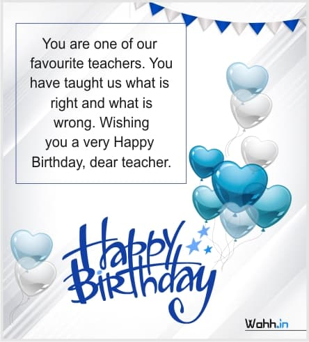 Birthday Wishes For Teacher With Images