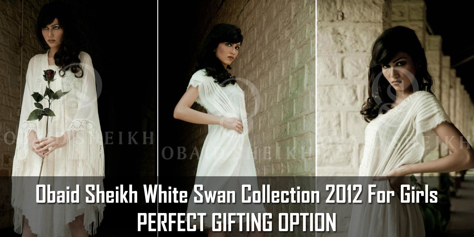 Obaid Sheikh White Swan Collection 2012  Western Style White Swan