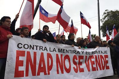 Trabajadores de Enap inician paro por  acusaciones contra la empresa