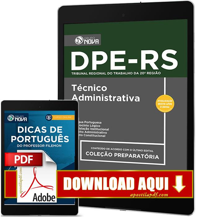 Apostila DPE RS 2017 PDF Download Técnico Área Administrativa