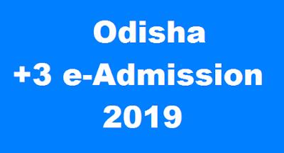 odisha +3 admission 2019 key dates