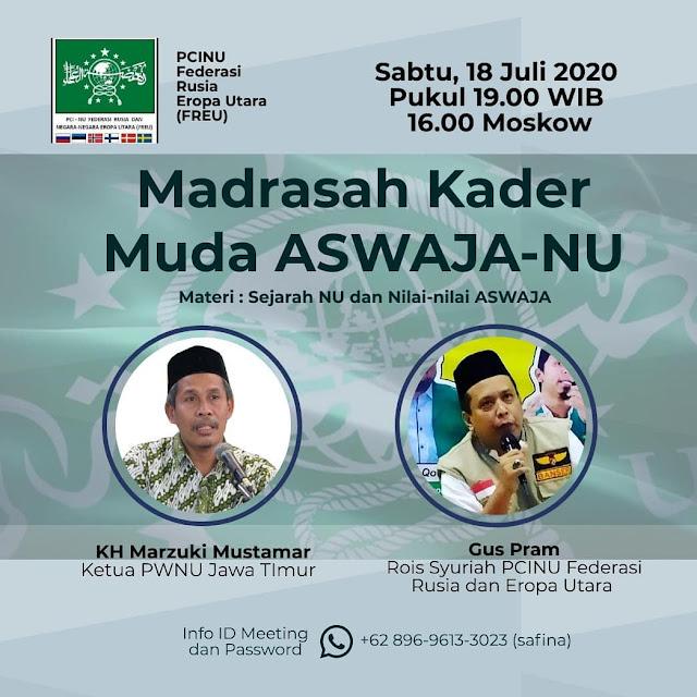 PCINU FREU Undang KH. Marzuki Mustamar Mengisi Madrasah Kader Muda Aswaja NU