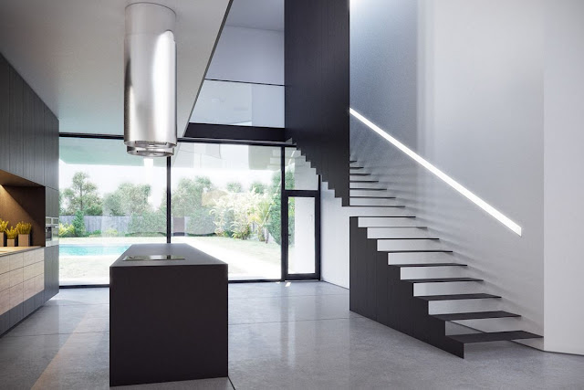 Straight  Floating staircase