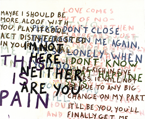 Sean Landers Love Comes, 2005 Oil on linen 94 x 114.3 cm