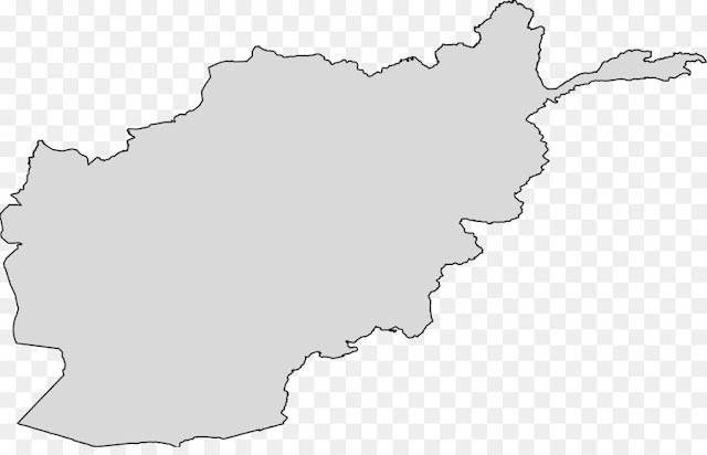 Transparent Afghanistan Map Outline