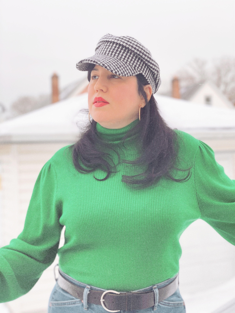 A Vintage Nerd, Vintage Blog, Retro Fashion Blog, Retro Lifestyle Blog, JCrew Green Sweater, Forever 21 Cap, Navigating through seasonal changes